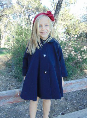 Παλτό παιδικό μπλέ-navy μάλλινο Sara s Collection 92aa31d104d