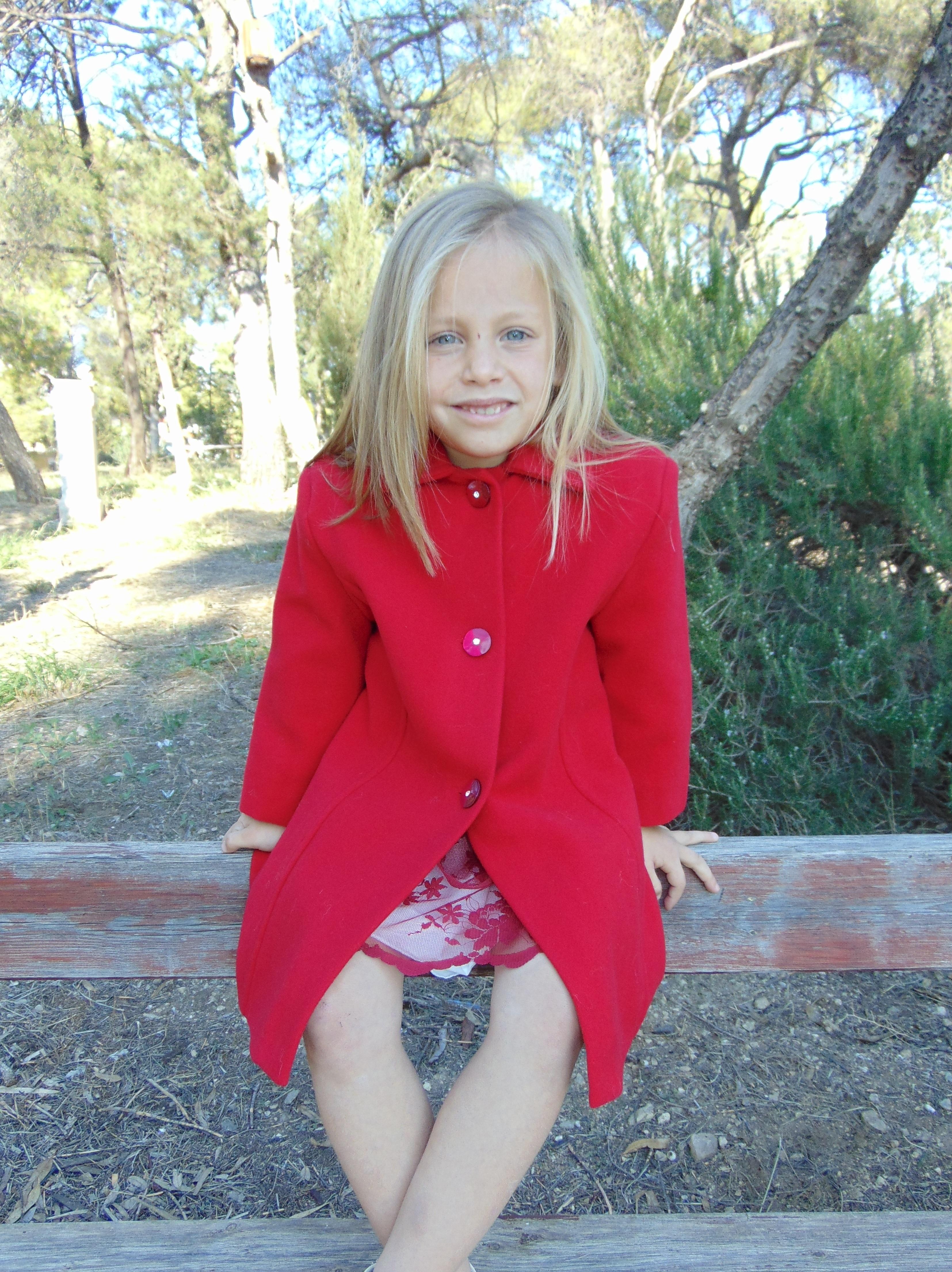7da6690297a Παλτό παιδικό μάλλινο κόκκινο Sara's Collection