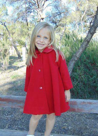 Παλτό παιδικό μάλλινο κόκκινο λούκι Sara s Collection fbb1cf10f20