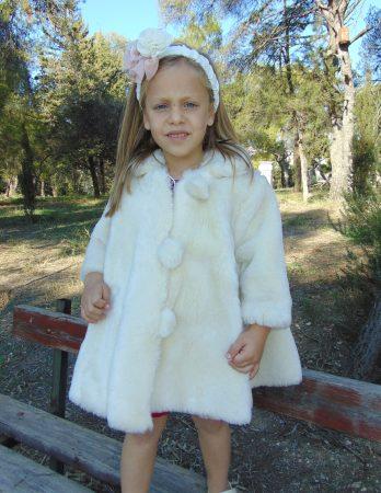 Γούνινο παιδικό παλτό λούκι λούτρ εκρού Sara s Collection bf1aa2e21c3