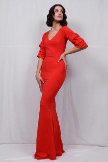 βραδινά φορέματα αργοστόλι κεφαλονιά τουαλέτες στενές μάξι κόκκινο φόρεμα