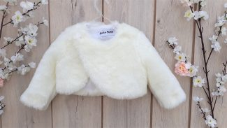 γούνινο ζακετάκι για βάπτιση γούνα μπολερό