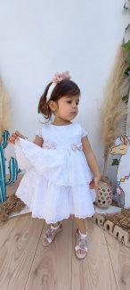 φορεμα μπροντερι βαπτιστικό φορεμα βαμβακερό φορεματακι