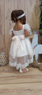 βαπτιστικά με πούπουλα σέτ βάπτισης με πούπουλα βαπτιστικό φόρεμα με πούπουλα φορεματάκια σέτ βάπτισης με πούπουλα